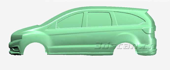 汽车油泥模型点云数据