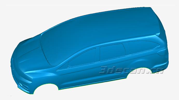 汽车油泥模型STL数据
