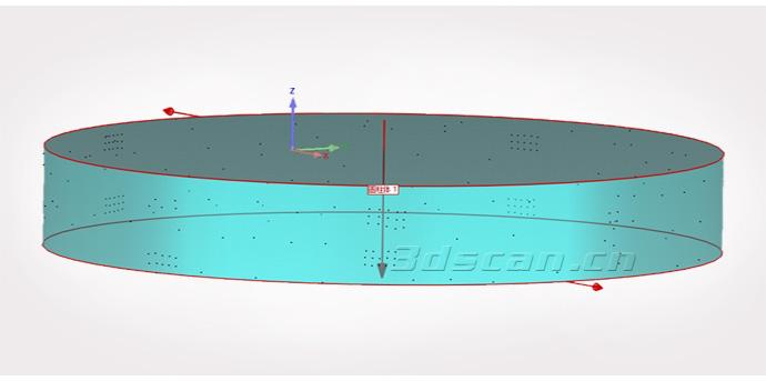 风力发电塔法兰三维摄影测量数据