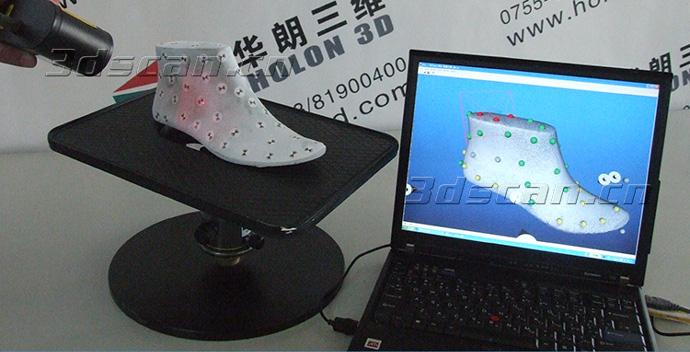 鞋楦扫描现场