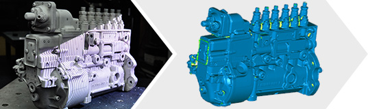 汽车发动机三维扫描案例