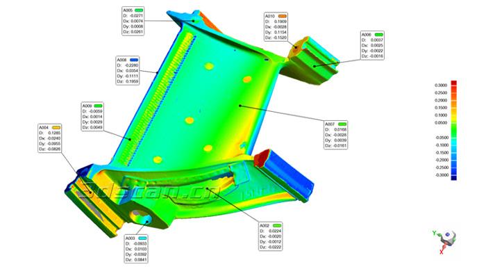 飞机涡轮发动机叶片检测图
