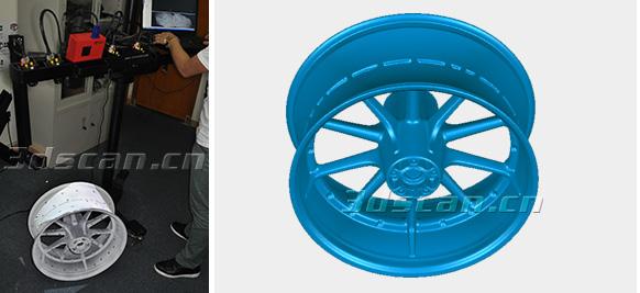 汽车轮毂三维检测案例