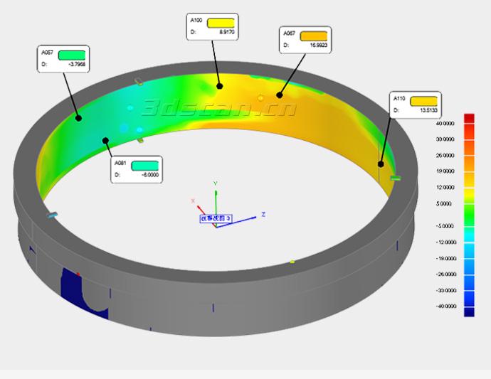 核锻造件三维检测图