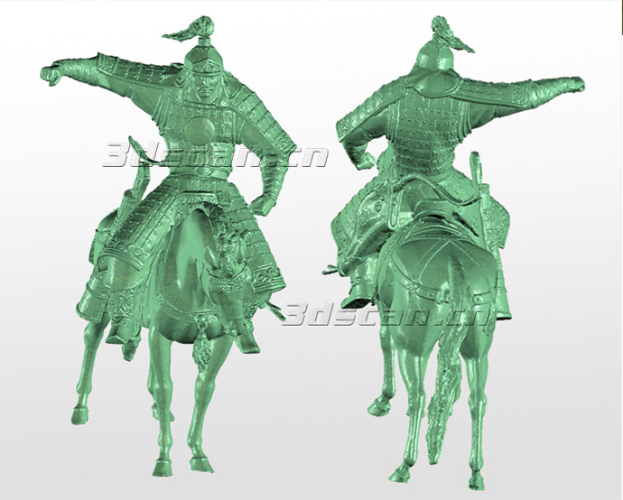 骑兵雕塑三维扫描点云图