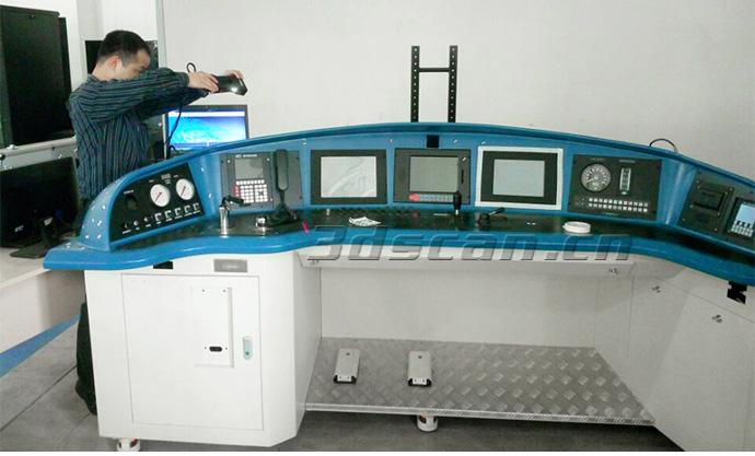 动车驾驶舱扫描现场图