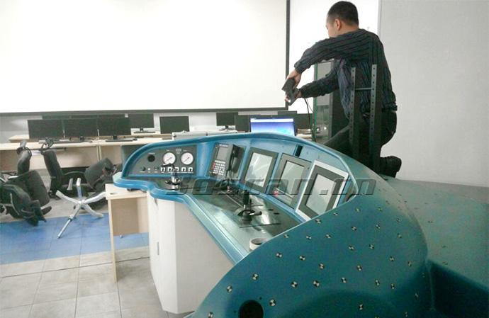 动车驾驶舱现场扫描图
