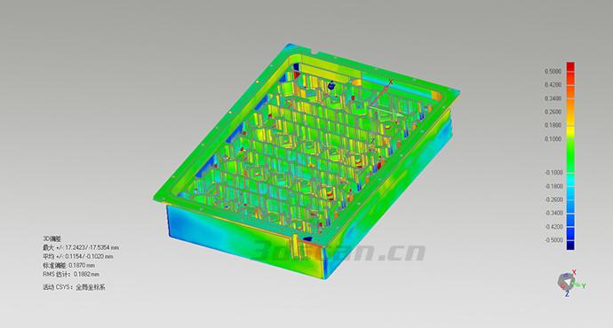 精密复杂加工件三维检测图