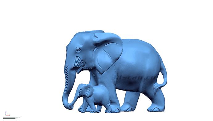东南亚大象木雕三维扫描案例